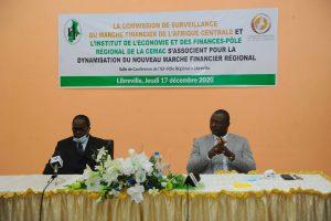 Le Président de la COSUMAF et le Directeur Général de l'IEF-PR